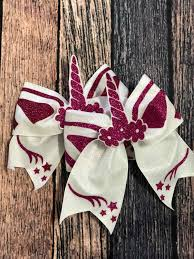 Cheer Bow Designs Pink Unicorn Cheer Bow