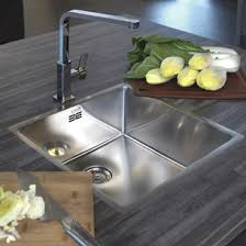 undermount kitchen sinks stainless steel. Reginox New York 1 Bowl Undermount Stainless Steel Kitchen Sink \u0026 Integrated Waste - 440 X 440mm Sinks K