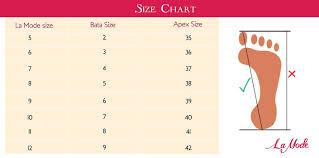 la size size chart la mode bd