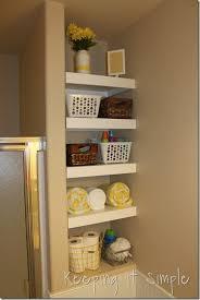 bathroom diy ideas. DIY-Shelves-For-A-Small-Bathroom (13) Bathroom Diy Ideas