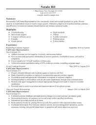 sample resume for a call center agent call center representative resume  sample sample resume call center