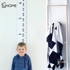 Us 7 16 31 Off Wooden Wall Hanging Baby Child Kids Growth Chart Height Measure Ruler Wall Sticker For Kids Children Room Home Decoration Art In Wall