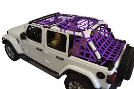 dirty dog 4x4 netting 5pc kit cargo sides purple for 2018 jeep jl 4 door
