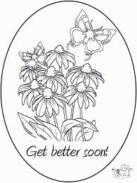 Small Picture Coloring Pages Cute Get Well Soon Coloring Page Free Printable