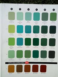 Surfboard Chart Color Chart