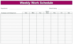 Weekly Calendars With Hours Weekly Calendar Template With Times