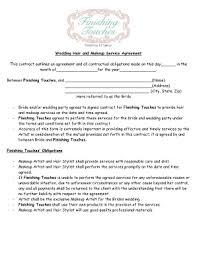makeup agreement form