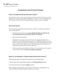 sample compare contrast essay two books essay cover letter compare contrast essay format and