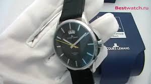 Обзор мужских <b>часов Jacques Lemans</b> Sydney <b>1</b>-1540A - YouTube