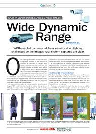 WDR-enabled cameras address security video lighting challenges | Manualzz