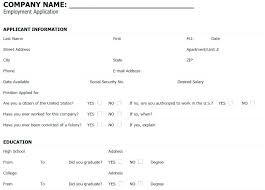 4 Free Downloadable Job Application Templates Blank Employment ...