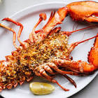 baked stuffed lobster for two