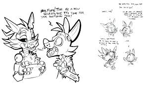 Coloring Pages Mangle Fresh 2 All Characters Free Library Fnaf Five