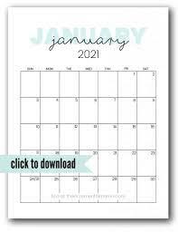 Free download blank calendar templates for 2021. Cute 2021 Printable Calendar 12 Free Printables