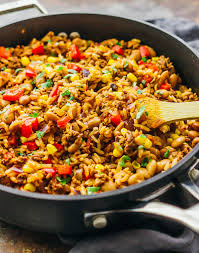 ground beef and rice recipes. Wonderful Beef A Southwest Skillet With Ground Beef Rice Peppers Onions Pinto Beans To Ground Beef And Rice Recipes N