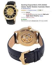 stuhrling original men s 107a 333530 classic apollo skeleton stuhrling original men s 107a 333530 classic apollo skeleton watch gets liquidated