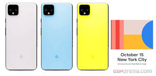 Yellow Blue Green Google Pixel 4 To Come In Slightly Green Maybe Pink Sky