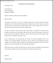Termination Letter Due To Absenteeism Moulden Co