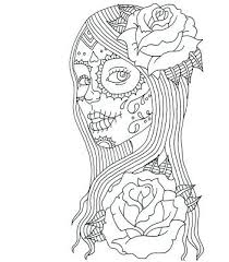 Day Of The Dead Coloring Skulls Sugar Skull Color Pages Coloring