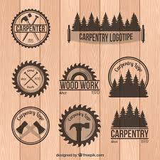 woodworking logo ideas. set of carpentry badges in vintage style woodworking logo ideas