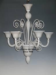 past blown classic murano glass chandelier