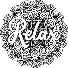 I absolutely love this design! Relax Coloring Pages Coloring Home