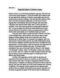 english school uniform essay a level general studies marked by page 1 zoom in