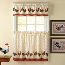 Red Kitchen Curtain Sets Furniture Modern Cafe Curtains With Base Valance For Window