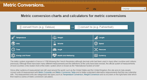 Metric Conversion Chart Calculator Access Metric Conversions Org Metric Conversion Charts And