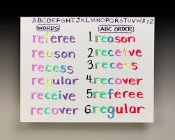 Alphabetical Order All Aligned In Alphabetical Order Crayola Ca