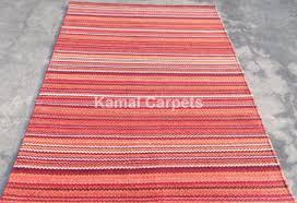 new 100 cotton flatweave modern rug easy clean dhurries