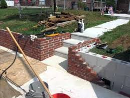 front yard makeover retaining wall