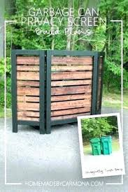 patio furniture garbage can privacy screen to hide trash cans how garbage can outside your best