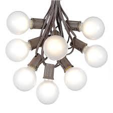 Globe Umbrella Lights G50 Patio String Lights With 125 Clear Globe Bulbs Patio