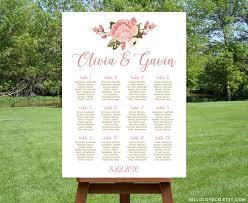 Wedding Seating Chart Wording Decor Printable Floral Wedding Seating Chart 2505277
