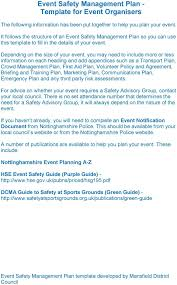 Whs Organization Chart Safety Management Plan Template Event For Organisers Pdf Whs