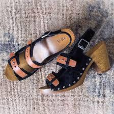 shoes kelsi dagger brooklyn clogs wooden sole sandals studs