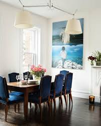 Blue dining room furniture Blue Green Love The Idea Of Navy Dining Room Chairs To Coordinate Wall Piece Pinterest Love The Idea Of Navy Dining Room Chairs To Coordinate Wall Piece