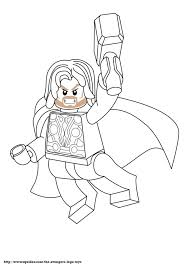 Free Lego Marvel Superheroes Thor Coloring Page Printable Lego