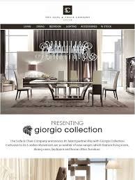 the sofa chair company introducing giorgio collection made in italy milled