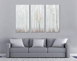 white birch tree forest canvas print wall art 3 panel split triptych wall decor home decor living room decoration interior design on white birch tree wall art with birch triptych etsy