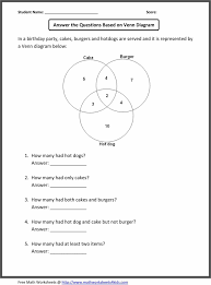 Math Venn Diagram Worksheet Venn Diagram For 7th Grade Math Worksheets Manual E Books
