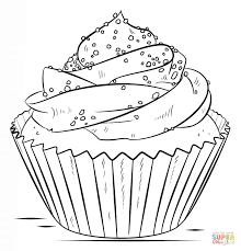 Small Picture Cupcake coloring page Free Printable Coloring Pages