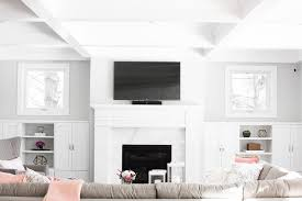 built in fireplace cabinets under windows