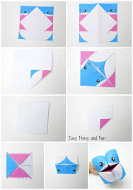 shark cootie catcher origami for kids easy peasy and fun origami instructions cootie catcher shark
