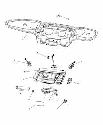 2015 chrysler town country overhead console thumbnail 3