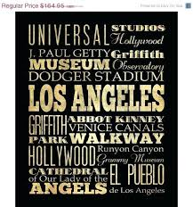 wall art los angeles items similar to typography canvas bus transit subway roll attractions decoration cool