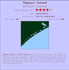 South Topsail Tide Chart Topsail Island Golfvoorspellingen En Surfberichten Carolina