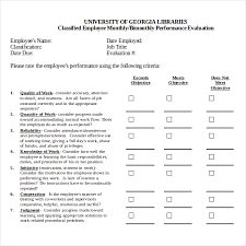 13 Sample Employee Review Forms 284121600006 Employee Monthly