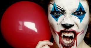 makeup ideas evil clown face paint